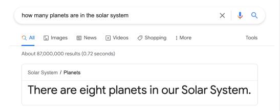 zero click search example